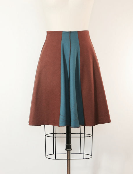 Patchwork Wool Skirt