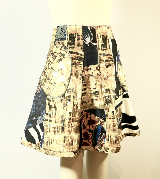 Patchwork African Print Skirt Plus Size