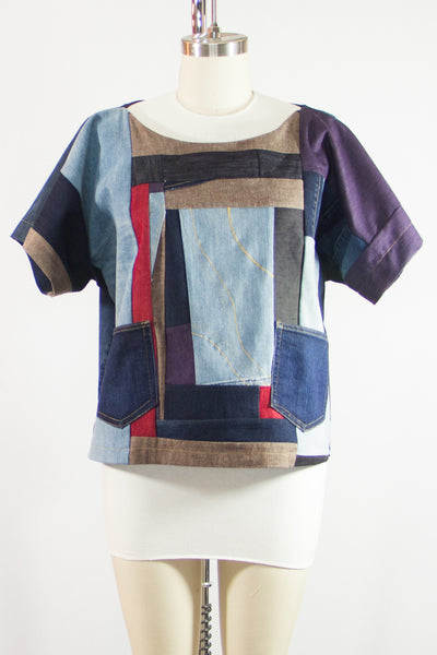 Patchwork Denim Tunic Large