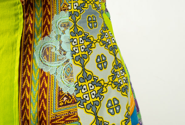 African Print Skirt A Line Small