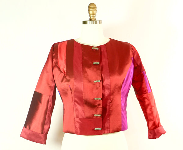 Small Patchwork Silk Jacket