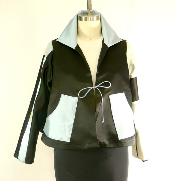 Silk Satin Patchwork Jacket