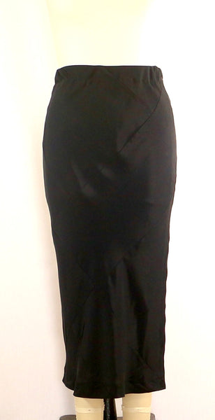 Black Rayon Patchwork Skirt