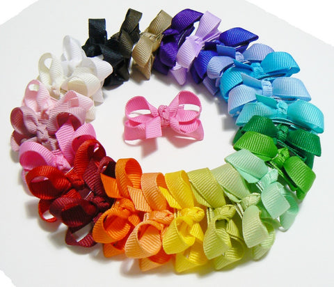 30 Infant Hair Bows (with knot) - B1 - INFANT PINKS ~ Wholesale