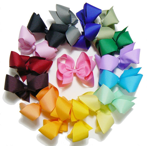 girls large hair bow set (16 bows)