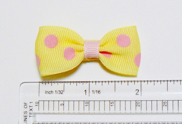 "GA78-Long - Girls Polka-Dot Hair Bow (without knot) 2"" ~ Wholesale"