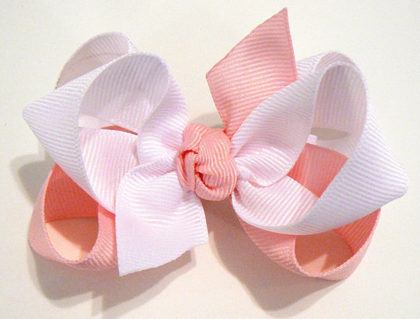 2-colored hair bow (wholesale)
