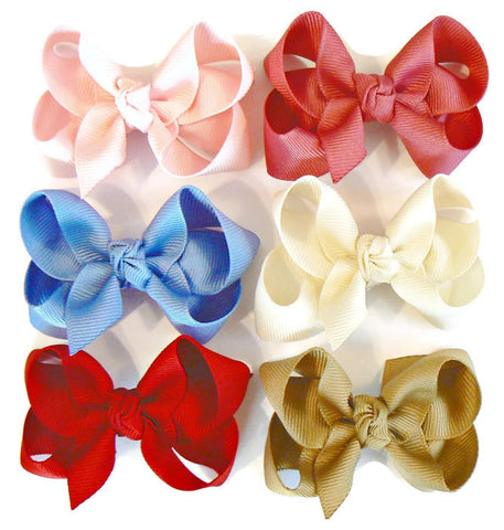 hair bow set (6 bows)