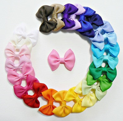30 Infant Hair Bows (without knot) - A20 - INFANT PASTELS ~ Wholesale