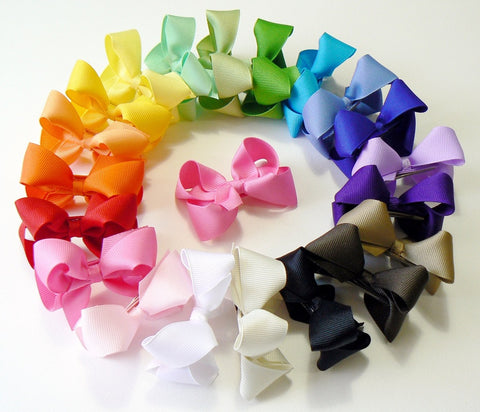 24 Small Hair Bows (without knot) - A2 - SMALL BOLD ~ Wholesale