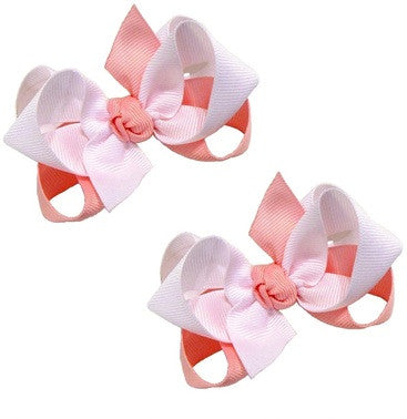 two-colored wholesale hair bow