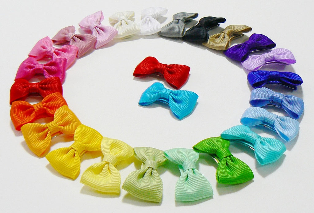 30 Infant Hair Bows (without knot) - A78 - INFANT PASTELS ~ Wholesale