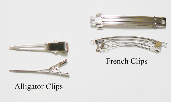 hair bow alligator clips & french clips
