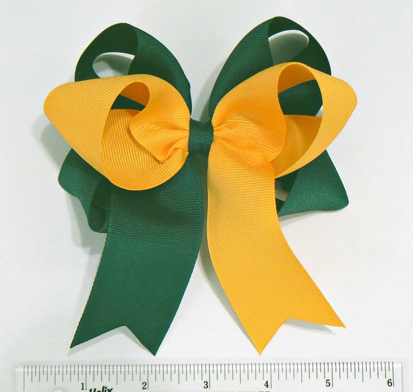 Girls Large Combination Hair Bow ~ Choose Your Own 2 Colors *(R2)