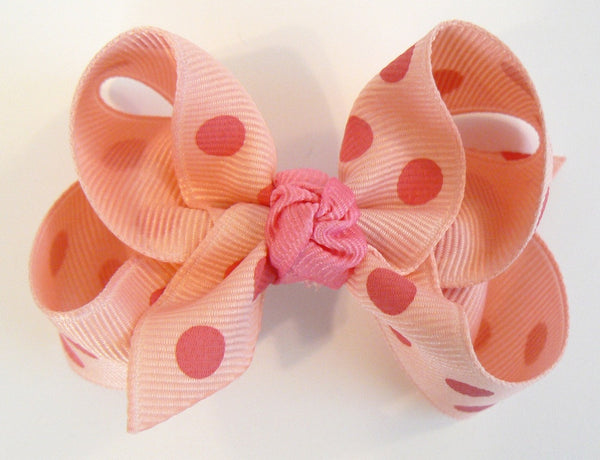 polka-dot hair bow (with knot)