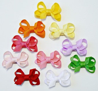 Infant girls hair bow set (10 bows)