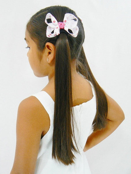 hair bow model (medium polka-dot bow)