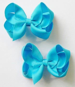 small hair bow set (2 bows)