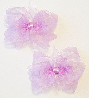 Organza hair bow set (2 bows)
