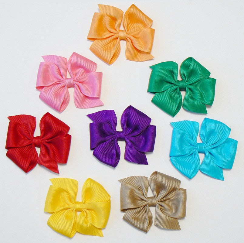 24 Small Hair Bows (without knot) - N2 - SMALL AUTUMN ~ Wholesale