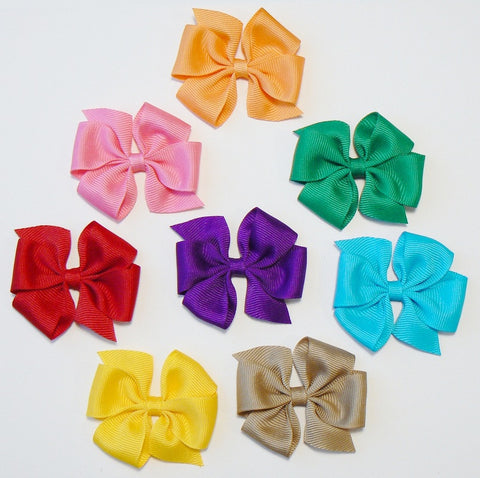 24 Small Hair Bows (without knots) - N2 - SMALL PASTELS ~ Wholesale