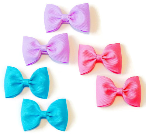 grosgrain hair bow set (6 bows)