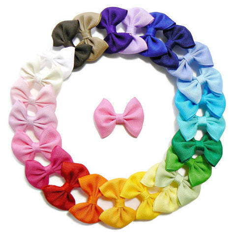 small girls hair bow set (25 bows)