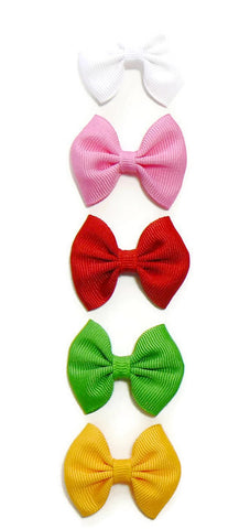 Infant girls hair bow set (5 bows)