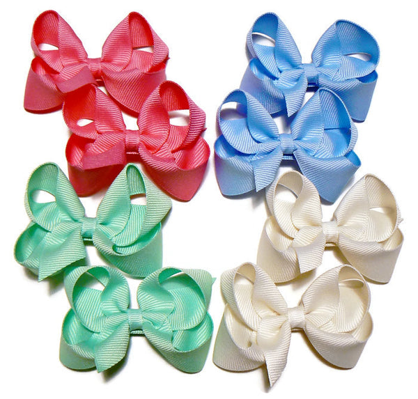 small hair bow set (8 bows)