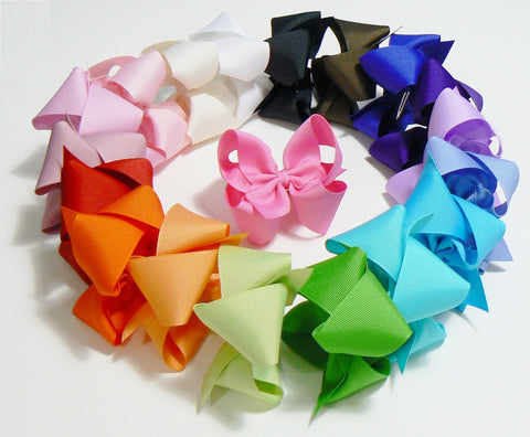 14 Medium Hair Bows (without knots) - A39 - MEDIUM BOLD ~ Wholesale