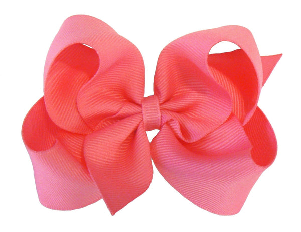 14 Medium Hair Bows (without knots) - A39 - MEDIUM PINKS ~ Wholesale