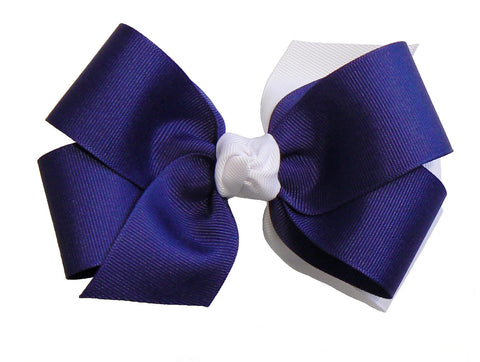 2-colored combination hair bow