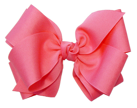 "A6 - Girls Large (Stacked) Hair Bow 7"" (with knot) ~ Wholesale"
