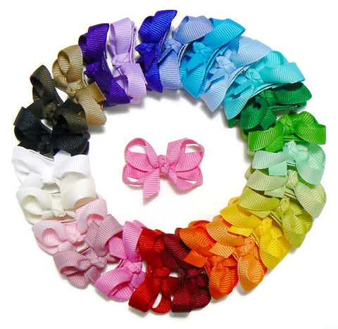 Infant girls hair bow set (25 bows)