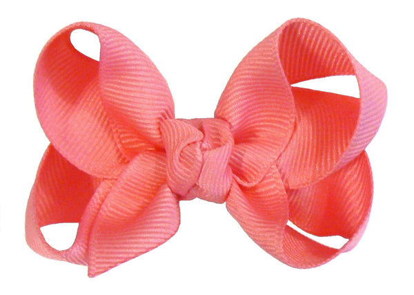 24 Small Hair Bows (with knot) - B2 - SMALL PASTEL ~ Wholesale