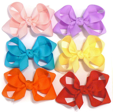 medium hair bow set (6 bows)