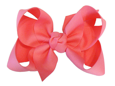 B4 - Girls Large Hair Bow (with knot) ~ Wholesale