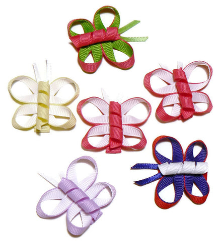 butterfly hair bow set (6 bows)