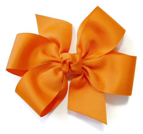 Girls Large Hair Bow (With Knot) Choose Your Own Colors (*E4)