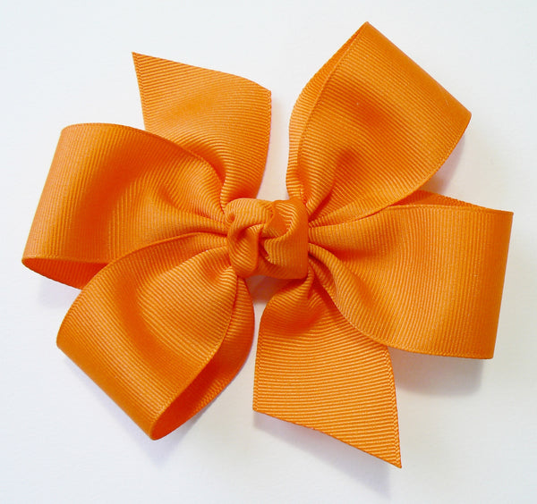 E4 - Girls Large Hair Bow (with knot) ~ Wholesale