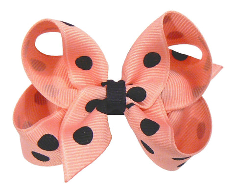 GA2 - Toddler Girls Polka-Dot Hair Bow (without knot) ~ Wholesale