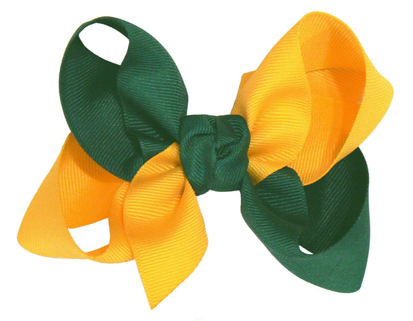 JKL-2 - Girls Large Multi-Colored Hair Bow (2-Colors) ~ Wholesale