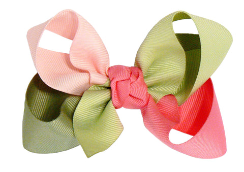 JKL-4 - Girls Large Multi-Colored Hair Bow (4-Colors) ~ Wholesale