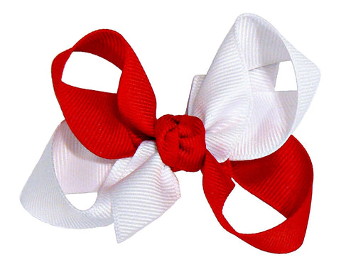 JKM-2 - Girls Medium Multi-Colored Hair Bow (2-Colors) ~ Wholesale