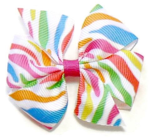 Fruity Stripes Hair Bow