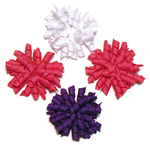 small corker hair bow set (4 bows)