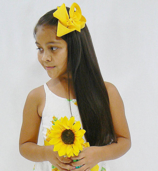 A4 - Girls Large Hair Bow (without knot) ~ Wholesale
