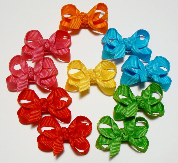 30 Infant Hair Bows (with knot) - B1 - INFANT PASTELS ~ Wholesale