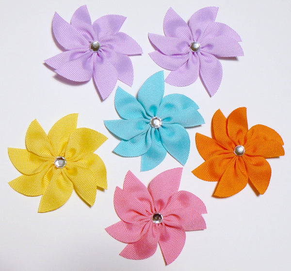 "QF2 - Girls Flower Hair Bow (3"") ~ Wholesale"