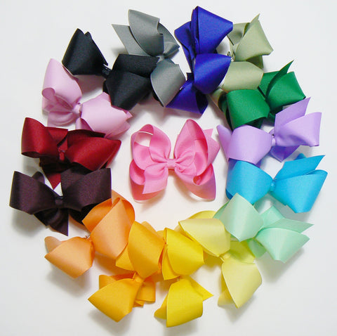 12 Large Hair Bows (without knots) - A4 - LARGE BOLD ~ Wholesale